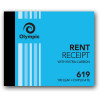 Olympic 619 Carbon Book Duplicate 100x125mm Rent Receipt 100 Leaf