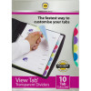 Marbig Professional Series A4 10 View Tab Dividers Transparent Multi Colour