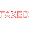 XStamper Stamp CX-BN 1346 Faxed Red