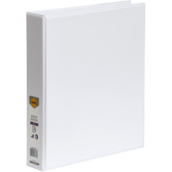 Marbig Clearview Insert Binder A4 2D Ring 38mm White