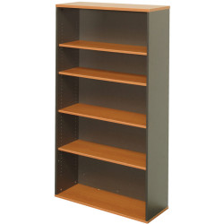 Rapid Worker Bookcase 900Wx315Dx1800H Includes 4 Shelves Cherry and Ironstone