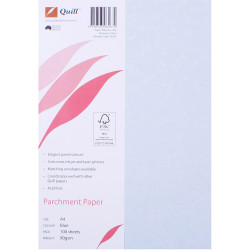 Quill Parchment Paper A4 90gsm Blue Pack of 100
