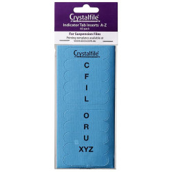 Crystalfile Indicator Tab Inserts A-Z Blue Pack Of 60