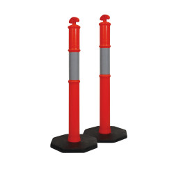 Zions T-Top Hi-Vis Bollard with Reflective Band 6kg